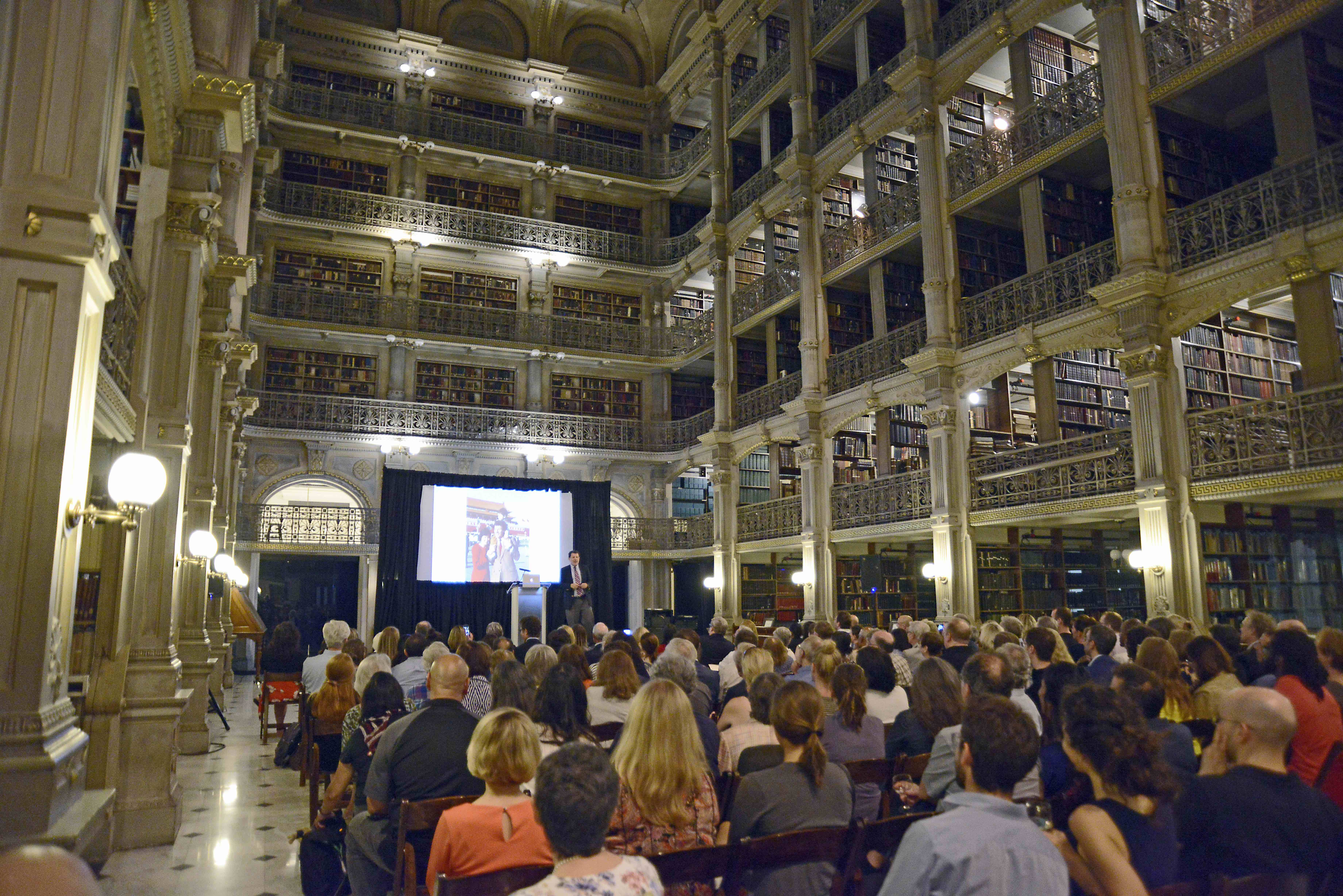 Nicholas Kristof lecture at the George Peabody Library